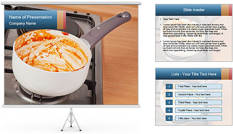 Cooking pan PowerPoint Template