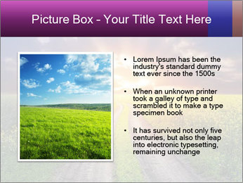 Country road and sunset PowerPoint Template - Slide 13