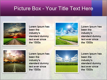 Country road and sunset PowerPoint Template - Slide 14