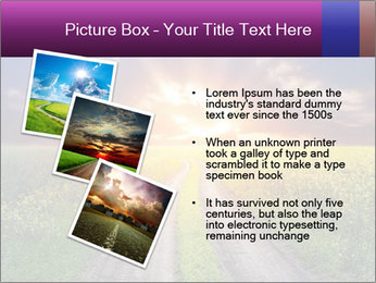 Country road and sunset PowerPoint Template - Slide 17