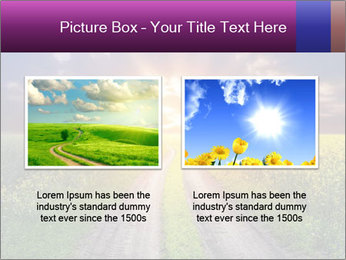 Country road and sunset PowerPoint Templates - Slide 18
