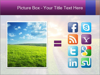 Country road and sunset PowerPoint Templates - Slide 21