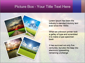 Country road and sunset PowerPoint Template - Slide 23