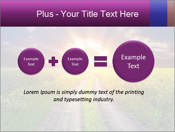 Country road and sunset PowerPoint Templates - Slide 75