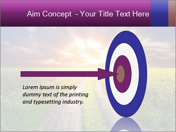 Country road and sunset PowerPoint Templates - Slide 83