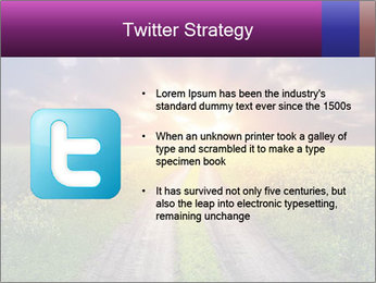 Country road and sunset PowerPoint Templates - Slide 9
