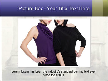 Two young attractivel woman PowerPoint Template - Slide 16