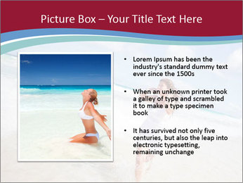 Beautiful woman enjoying PowerPoint Template - Slide 13