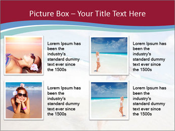 Beautiful woman enjoying PowerPoint Template - Slide 14