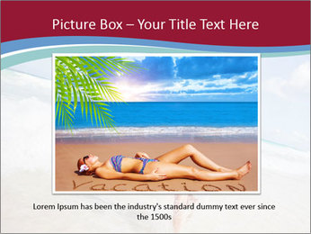 Beautiful woman enjoying PowerPoint Template - Slide 15