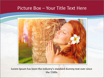 Beautiful woman enjoying PowerPoint Template - Slide 16