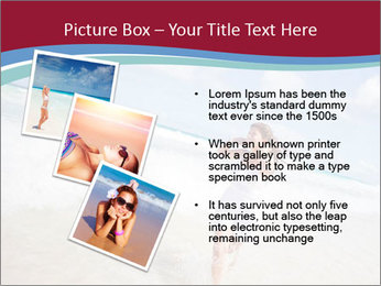 Beautiful woman enjoying PowerPoint Template - Slide 17
