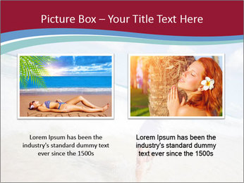Beautiful woman enjoying PowerPoint Template - Slide 18
