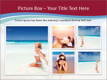 Beautiful woman enjoying PowerPoint Template - Slide 19