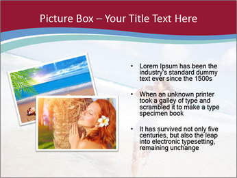 Beautiful woman enjoying PowerPoint Template - Slide 20