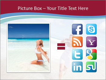 Beautiful woman enjoying PowerPoint Template - Slide 21