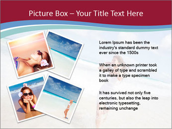Beautiful woman enjoying PowerPoint Template - Slide 23