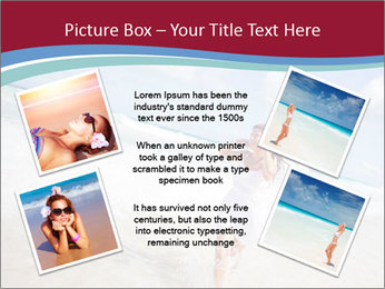 Beautiful woman enjoying PowerPoint Template - Slide 24