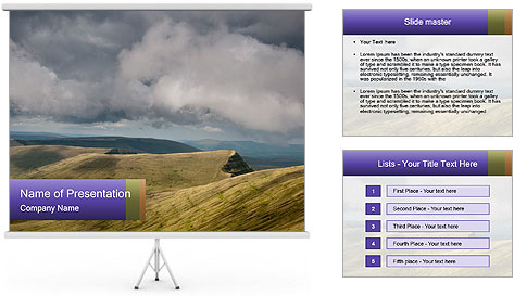 Dark clouds in the sky PowerPoint Template