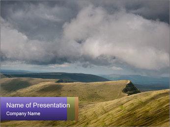Dark clouds in the sky PowerPoint Template - Slide 1
