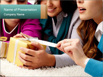 Gift box PowerPoint Template