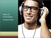 Young man with glasses PowerPoint Template