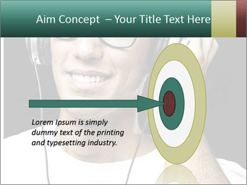 Young man with glasses PowerPoint Template - Slide 83
