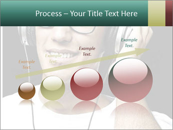 Young man with glasses PowerPoint Template - Slide 87