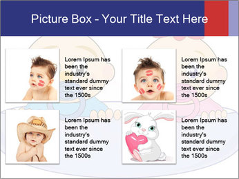 Baby girl with red bow and boy PowerPoint Template - Slide 14