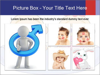 Baby girl with red bow and boy PowerPoint Template - Slide 19