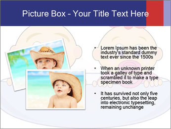 Baby girl with red bow and boy PowerPoint Template - Slide 20