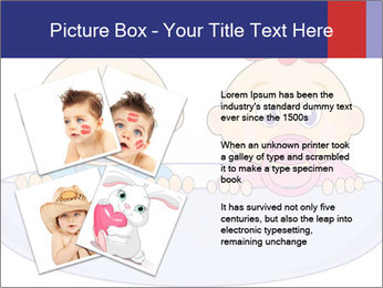 Baby girl with red bow and boy PowerPoint Template - Slide 23