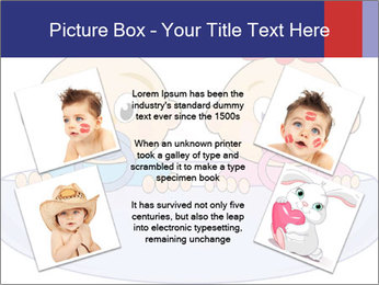 Baby girl with red bow and boy PowerPoint Template - Slide 24