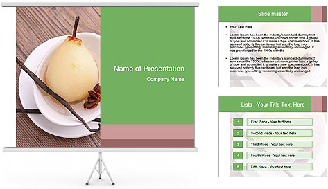 Purified pear PowerPoint Template