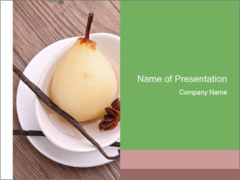 Purified pear PowerPoint Template - Slide 1