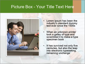 Couple  at laptop PowerPoint Template - Slide 13