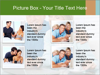 Couple  at laptop PowerPoint Template - Slide 14
