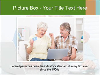 Couple  at laptop PowerPoint Template - Slide 16