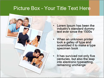 Couple  at laptop PowerPoint Template - Slide 17