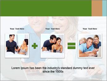 Couple  at laptop PowerPoint Template - Slide 22