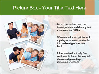 Couple  at laptop PowerPoint Template - Slide 23