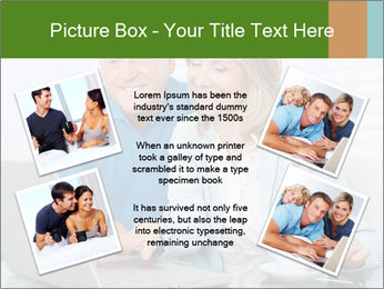 Couple  at laptop PowerPoint Template - Slide 24
