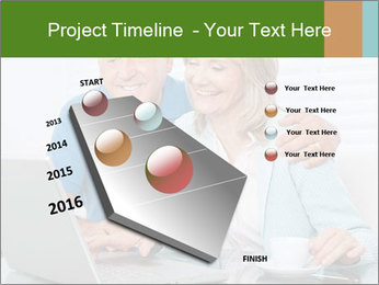 Couple  at laptop PowerPoint Template - Slide 26