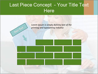 Couple  at laptop PowerPoint Template - Slide 46