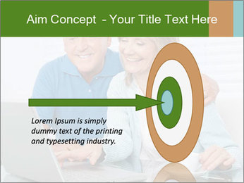 Couple  at laptop PowerPoint Template - Slide 83