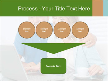 Couple  at laptop PowerPoint Template - Slide 93