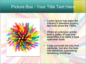 Flexible straws PowerPoint Template - Slide 13