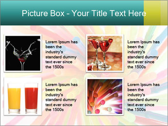 Flexible straws PowerPoint Template - Slide 14