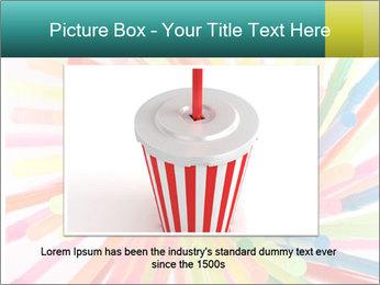 Flexible straws PowerPoint Template - Slide 16