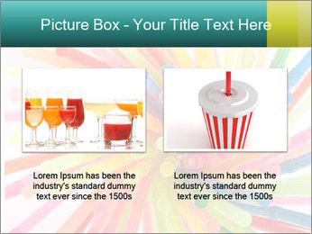 Flexible straws PowerPoint Template - Slide 18